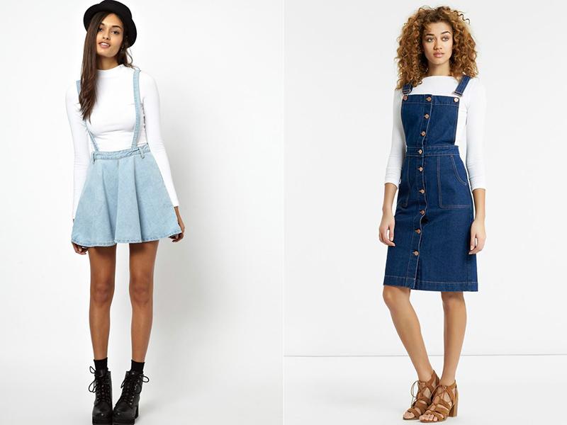 da4041f2050 Прямая юбка на пуговицах добавляет изящность силуэту и является наиболее  удачной составляющей джинсового ...