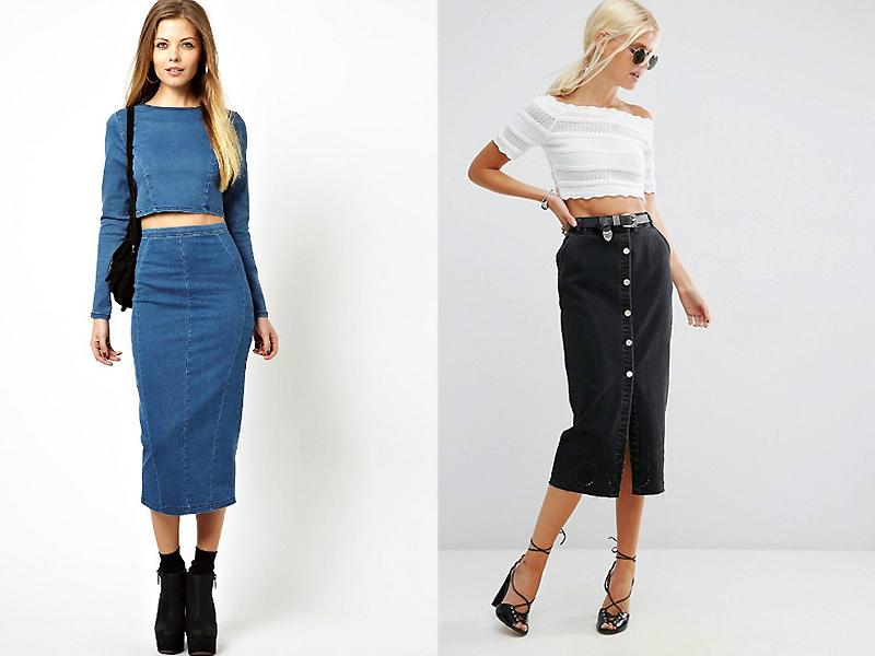 93575450bb6 Гардероб модницы сумеют пополнить следующие модели джинсовых юбок с высокой  посадкой