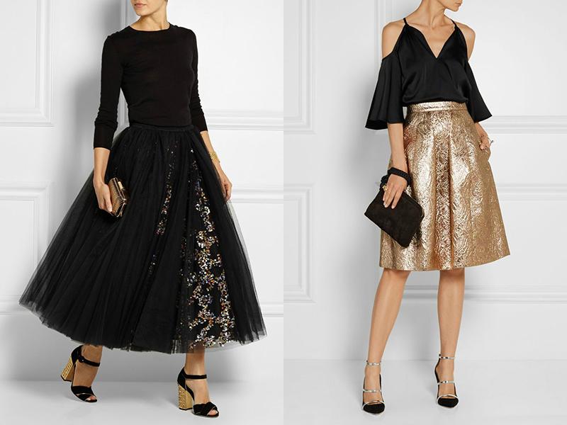c6ab4b1051c многослойные юбки – придают объем и отвлекают внимание от талии. Если юбка  выполнена из контрастных элементов
