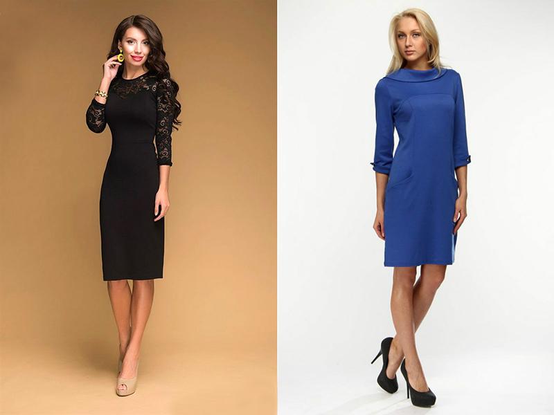bbed64be734 Весьма строго регламентируется длина делового платья. Носить слишком  короткое офисное платье недопустимо