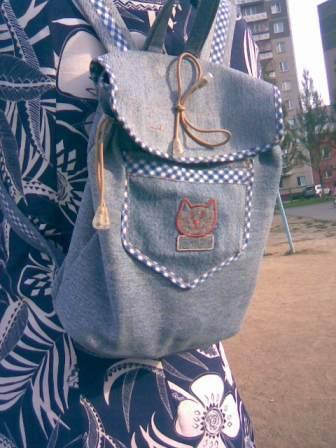 77b1b09300aa Как сшить рюкзак из джинсов. Как сшить рюкзак из джинсов своими ...