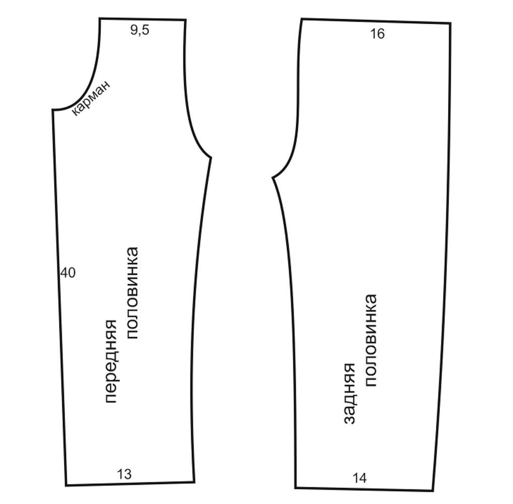 Как построить выкройку детских штанишек фото 122
