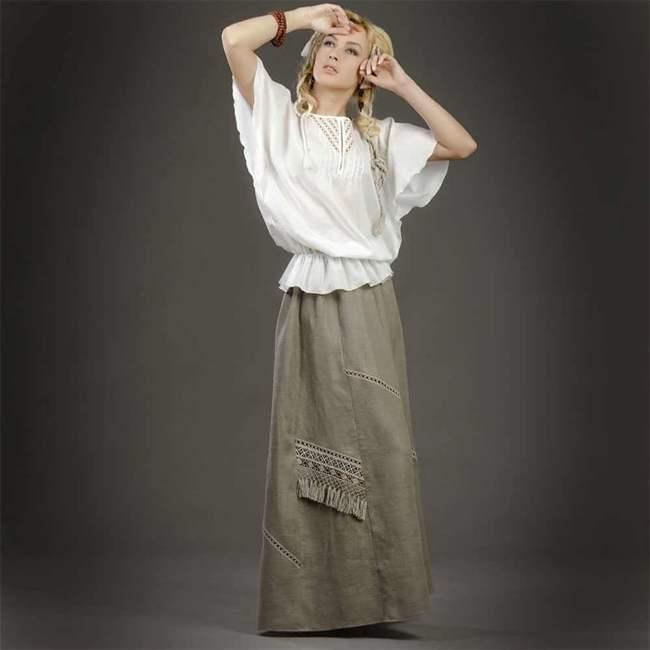 cf8287362f26e6a Юбка из льна полусолнце. С чем носить льняную юбку: преимущества ...