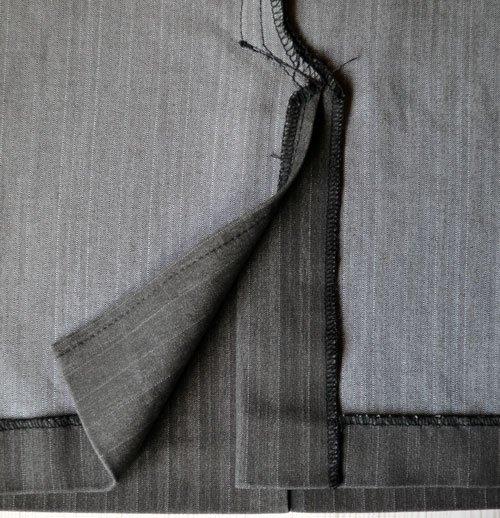 Выкройка юбки на молнии спереди