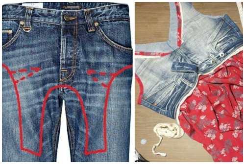 e5cba3bab691 Шьем из старых джинс. Что сделать из старых джинсов: второе дыхание ...