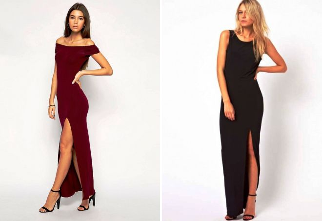 ccb9f0ae68a Разрез на платье как сделать. Длинное платье с разрезом на ноге ...