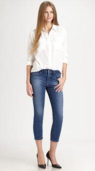 493b71bba6c Укоротить джинсы. Женские укороченные джинсы  с чем носить и как ...
