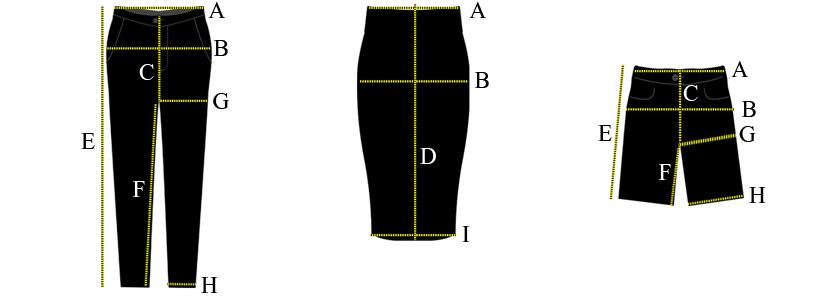 замеры жен брюки