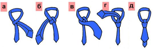 Как завязать галстук простая схема фото 105
