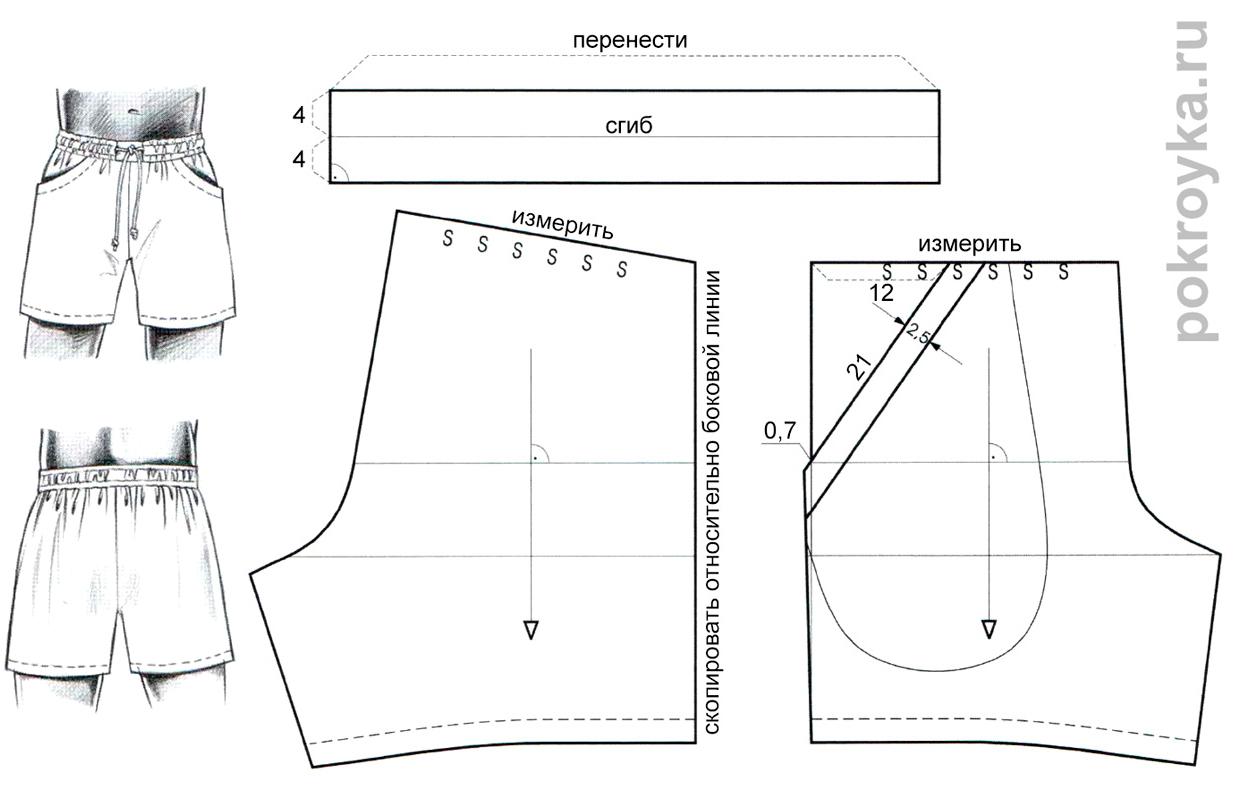 Выкройки для женских шортов фото 76