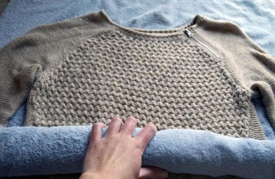 как отремонтировать вязаную вещь после стирки свитер растянулся