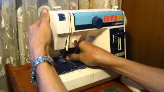Sewing machine Швейная машина Mini Jaguar 281 test джинс