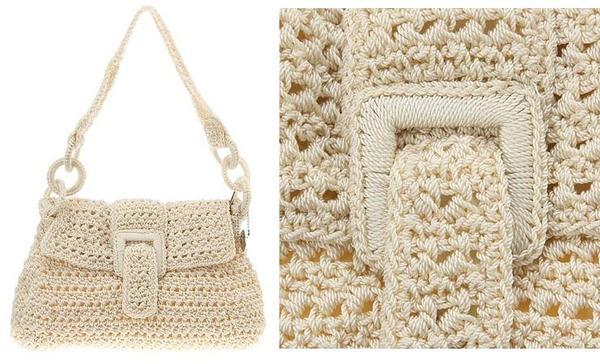 комбинированные сумки из кожи и вязания шьем комбинированную сумку