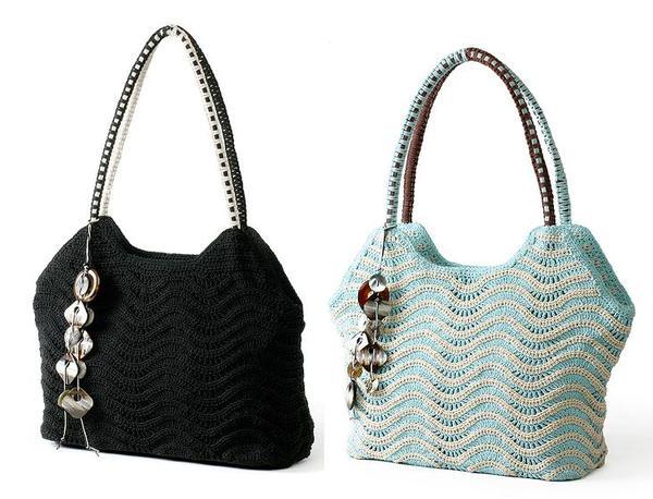 a44d745eb7c0 Описание вязания круглой сумки крючком. Две идеи вязаных сумок с декором.