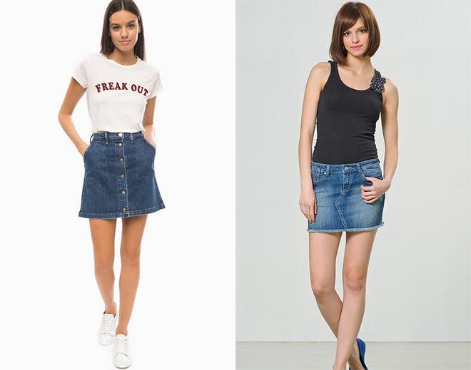 084bcb0ad2b В 90-е гг. джинсовая юбка достигла пика популярности