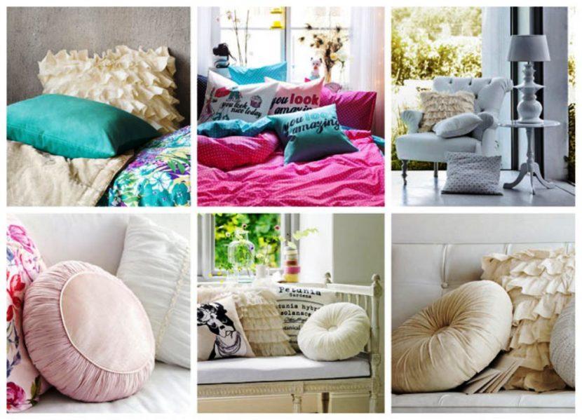 подушка в гостинной