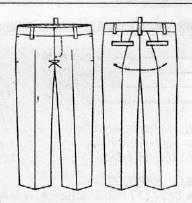 -рисунок-брюк Как сшить брюки мужские. Как сшить мужские брюки свободного покроя своими руками?